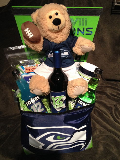 Seattle Seahawk Gift Baskets - Just for Them Gift Baskets