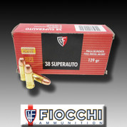 Fiocchi 38SA: 38 Super Auto - 129gr FMJ - 50ct/Box