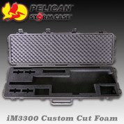 Pelican/Storm iM3300: Custom Rifle Cut Foam (Black)