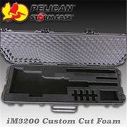 Pelican/Storm iM3200: Custom Rifle Cut Foam (Black)