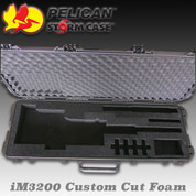 Pelican/Storm iM3200: Custom Rifle Cut Foam (Green)