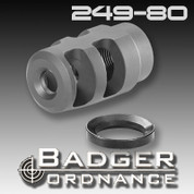 Badger Ordnance 249-80: Micro FTE Muzzle Brake 1/2-28‰ Thread for .22 Calibers
