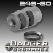 Badger Ordnance 249-80: Micro FTE Muzzle Brake 1/2-28 Thread for .22 Calibers