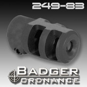 Badger Ordnance 249-83: Mini FTE Muzzle Brake, Clamp-Style 5/8-24 Thread for .30 Caliber