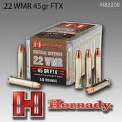 Hornady H83200: .22WMR 45gr FTX 50/Box