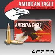 American Eagle AE223: .223 Rem 55gr FMJBT 20/Box