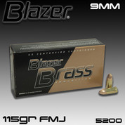 CCI 5200: Blazer Brass 9mm Luger 115gr Full Metal Jacket 50/Box