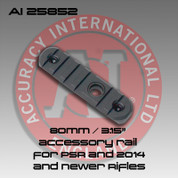 "Accuracy International 25852: 80mm / 3.15"" Rail w/Flush Cup Mount"