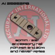 "Accuracy International 25852PB: 80mm / 3.15"" Rail w/Flush Cup Mount Pale Brown"