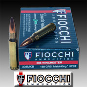 Fiocchi 308MKB: Munizioni Spa Fiocchi 308MKB Exacta 308 Win (7.62 NATO) Sierra MatchKing BTHP 168 GR 20/Box