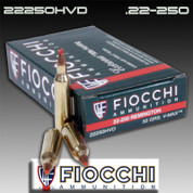 Fiocchi 22250HVD: 22 250 Rem 55gr V-Max 20/Box