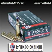 Fiocchi 22250HVB: 22 250 Rem 40gr V-Max 20/Box