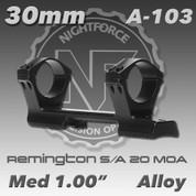 Nightforce A103: Rem 700 SA 1.0 Med 20 MOA 30mm Direct Mount