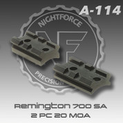 Nightforce A114: Rem 700 Short Action 2 PC 20 MOA