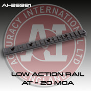 Accuracy International 26981: Low Action Rail AT - 20 MOA for the AT Rifle