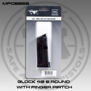 Glock MF08855: 43 9mm XMAG w/Ext 6