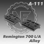 Nightforce A111: Rem 700 L/A 2pc 20 MOA Base
