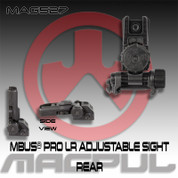 Magpul MAG527: MBUS® Pro LR Adjustable Sight- Rear