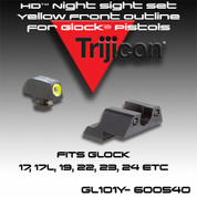 Trijicon HD Night Sight Set ‰Yellow Front Outline for Glock Pistols    GL101Y
