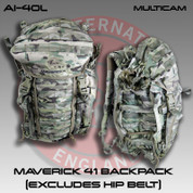 Accuracy International AI-40L: Maverick 41 Backpack (Excludes Hip Belt) - Multicam