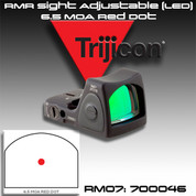 Trijicon RM07: RMR Sight Adjustable (LED) - 6.5 MOA Red Dot