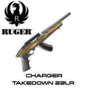 Ruger 490-70496: Charger Takedown 22LR 15+1 TB 4918 GRN MTN Laminate