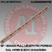 "Accuracy International 25832PB: 16"" - 20MOA Full Length Picatinny Forend Rail Pale Brown **PSR & 2014 Onwards**"