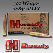 Hornady H80892: 300 Whisper 208gr A-Max 20/Box