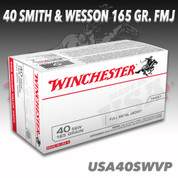 Winchester USA40SWVP: 40 S&W 165gr Full Metal Jacket
