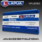 Lapua 4PL6050: 6mm (.243) Scenar Lockbase 105gr HPBT 100/Box