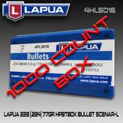 Lapua 4HL5016: 22cal 77gr Scenar OTM 1000/Box