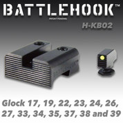 Battlehook H-KB02: Sight Sets For Glock Pistols Fiber Optic Front