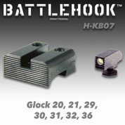 Battlehook H-KB07: Sight Sets For Glock Pistols, Tritium Front Black Rear