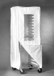 White Zipper Bun Pan Rack Cover