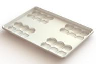 Aluminum Four Mould Cluster Bun Pan