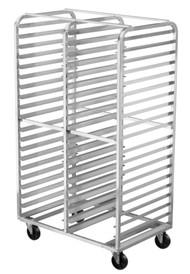 Aluminum Double-Bay Pan Racks