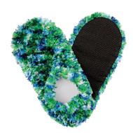 Fuzzy Footies Slippers - Green/Blue/White - 60037 - Red Carpet Studios - christophersgiftshop.com
