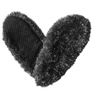 Fuzzy Footies Slippers - Black - 60008 - Red Carpet Studios - christophersgiftshop.com