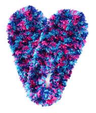 Fuzzy Footies Slippers - Teal/Navy/Fuchsia - 60070 - Red Carpet Studios - christophersgiftshop.com