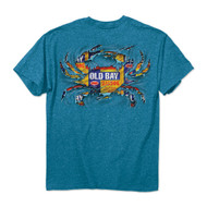 Old Bay Ripped Crab Sapphire Mens T-Shirt - 00566 - Maryland Apparel - christophersgiftshop.com