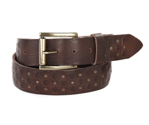 Vere Leather Belt in Chestnut