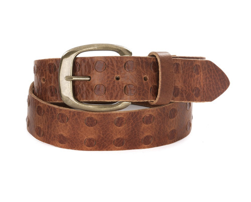 Calix Leather Belt in Brandy
