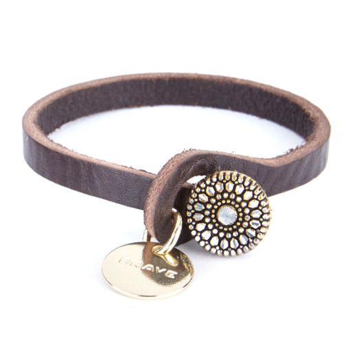 Ember Leather Pendant Cuff
