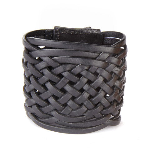 TORES WOVEN LEATHER CUFF