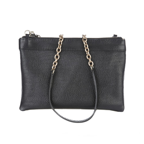 Sharon 2-in-1 Clutch in Black Nappa