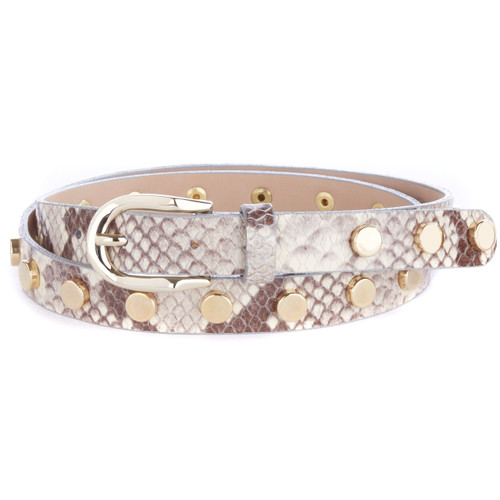 Cosette Studded Snakey Leather Belt