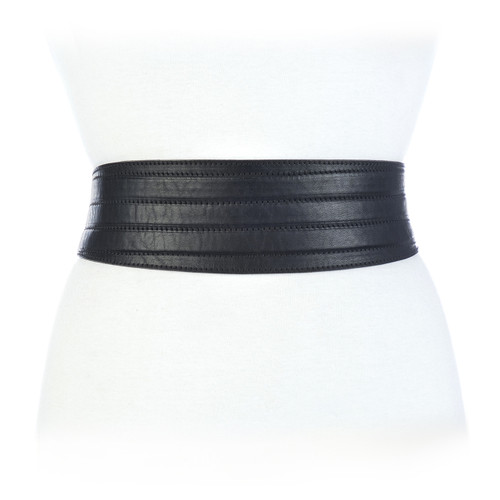 Raza Leather Belt in Black