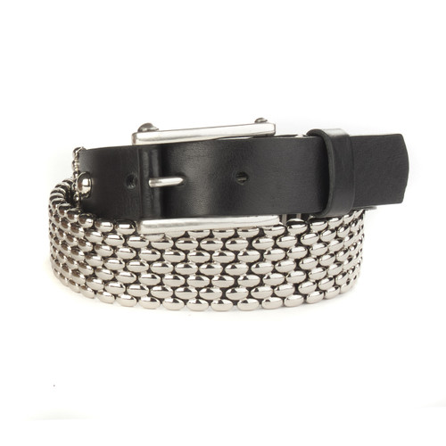 Milda Leather Belt in Black