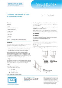 Section 7 - Architectural Glazing Systems: Guidelines for the Use of Glass in Protective Barriers (ref: 7.2)