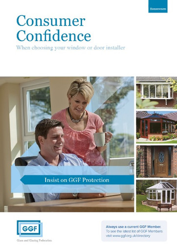 Confidence is a big factor when homeowners have to choose a windows and door installer.  This handy consumer A5 leaflet is designed to increase consumer confidence when choosing a GGF member to install windows and doors to the highest professioanl standard.